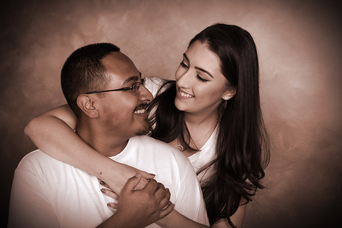couple's portrait photography shoot at andrae michaels in colorado springs