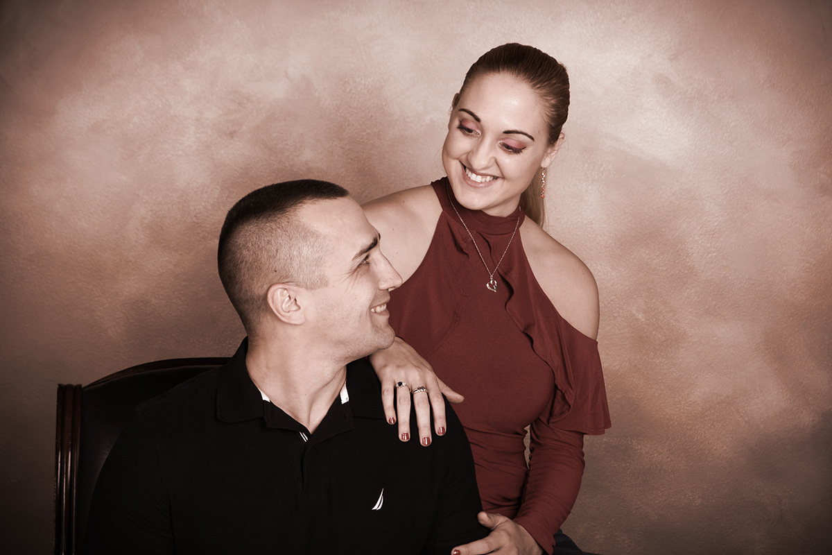 professional engagement portraits photographed at andrae michaels portrait studios in colorado springs