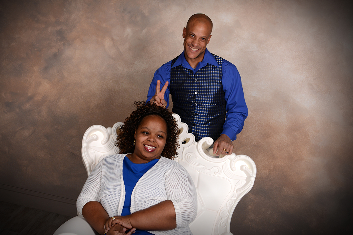 cartwrights pose for a picture in the studio of andrae michaels photographer in colorado springs