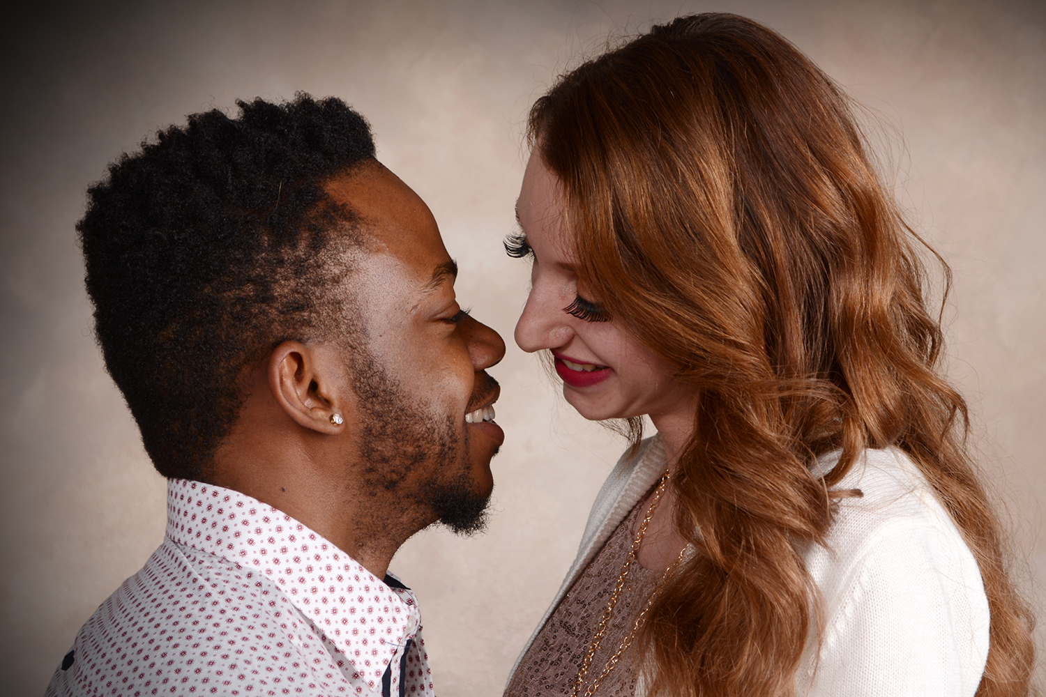 professional portrait photography taken of a couple smiling
