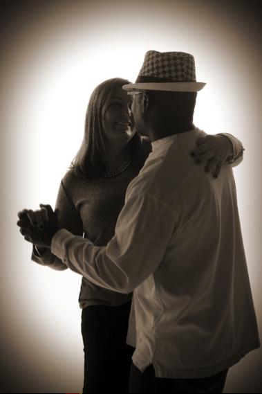 professional studio portrait of couple dancing andrae michaels Colorado springs